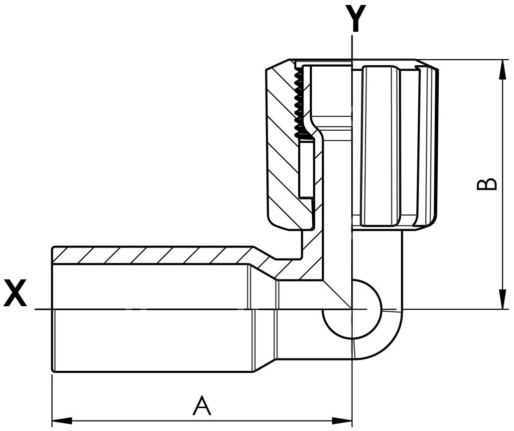 Winkel PFA Schweißstutzen und Space Saver mit PFA-Überwurfmutter