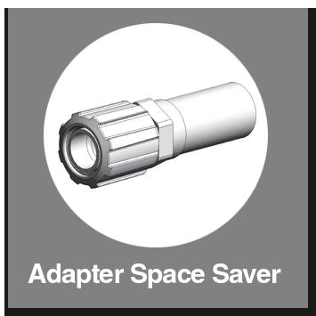 Adapter Space Saver mit Schweißstutzen