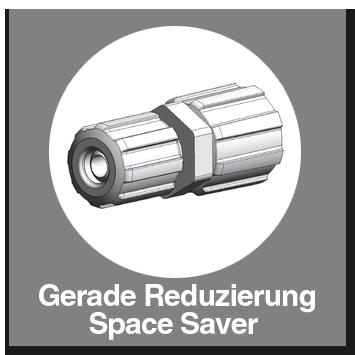 Gerade Reduzierung Space Saver