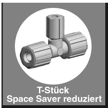T-Stück Space Saver reduziert