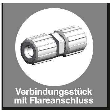Verbindungsstück PFA mit Flareanschluss
