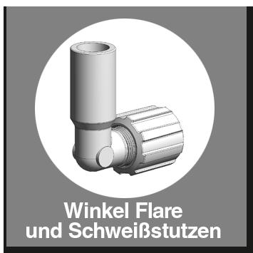 Winkel PFA Flare und Schweißstutzen