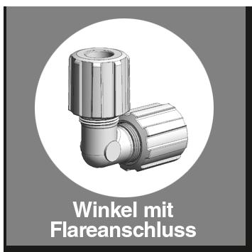 Winkel PFA mit Flareanschluss