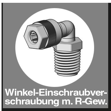 Winkel-Einschraubverschraubung mit R-Gewinde