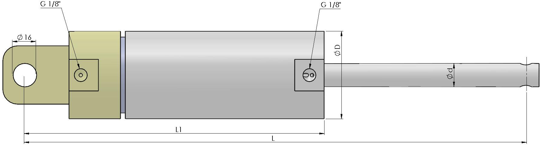 Kunststoff Pneumatikzylinder